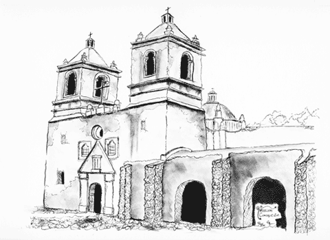 Pen and ink of Concepcion