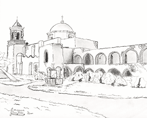 Pen and ink of San Jose